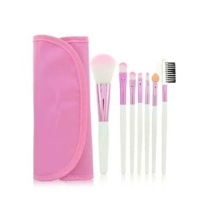 Other - 7 Piece Makeup Brush Set w/ Travel Bag - PINK